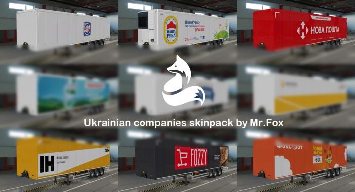 ETS2 - Skinpack of Ukrainian Companies V1.2 (1.41.x)
