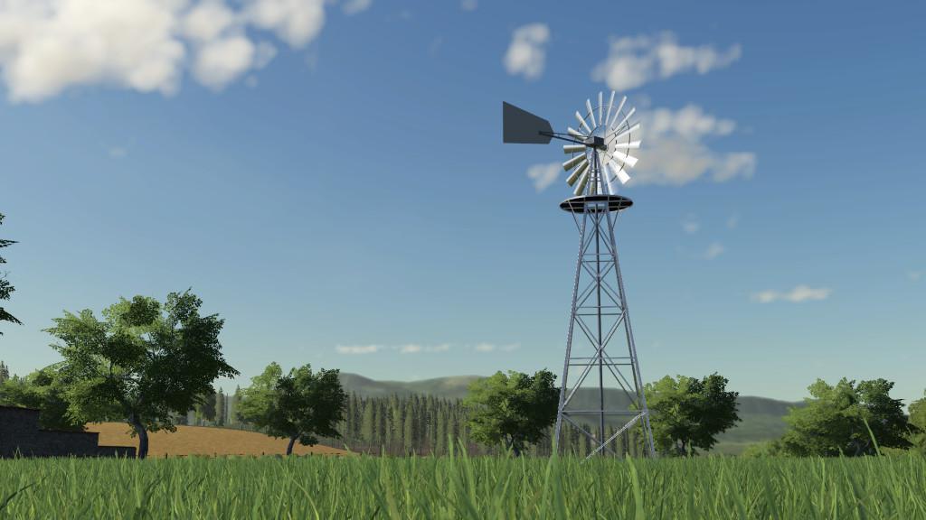 FS19 - Water Wind Turbine V1.0