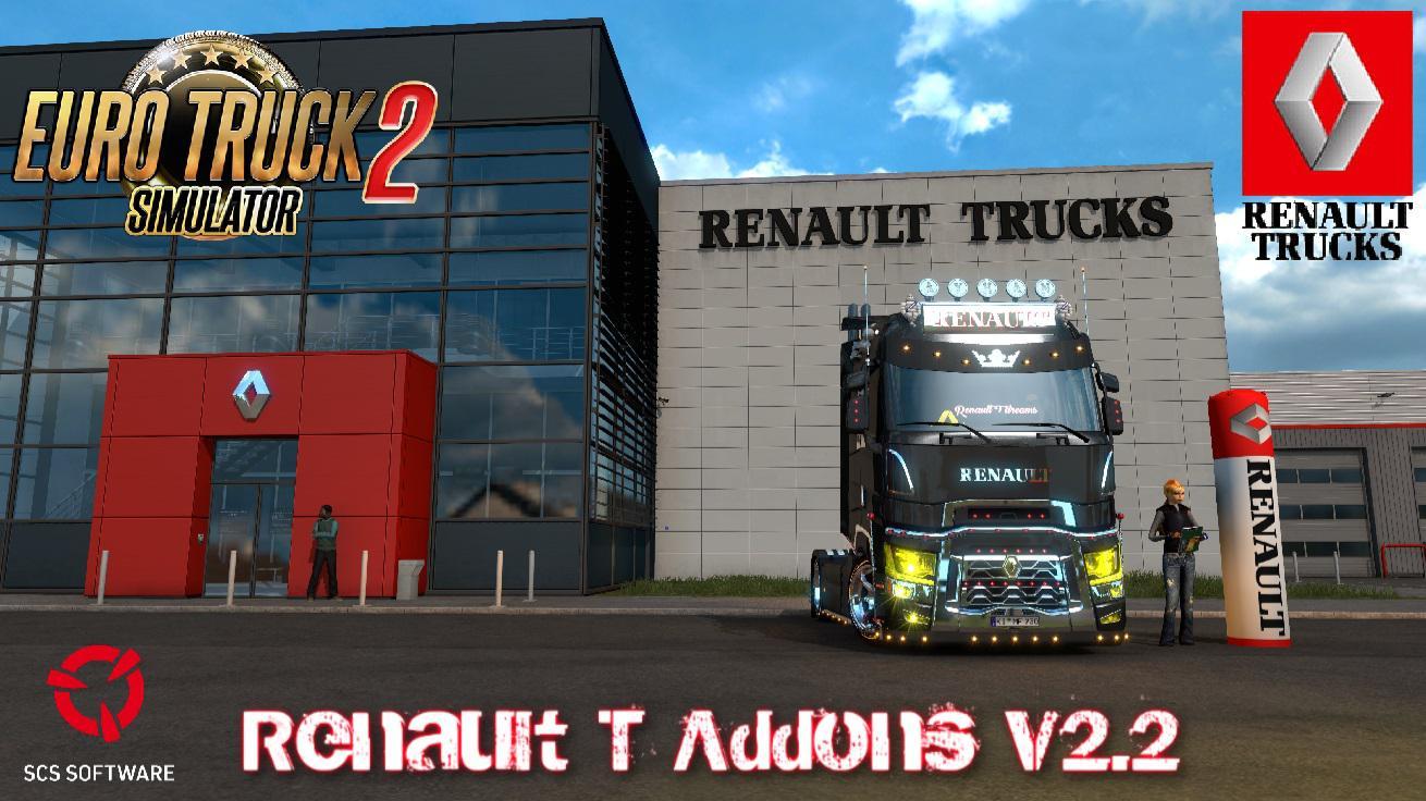 ETS2 - Renault T Addons V2.2 (1.39.x)
