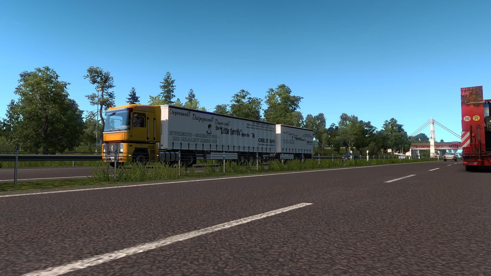 ETS2 - Multiple Trailers in Traffic Mod V5.0 (1.36.x)