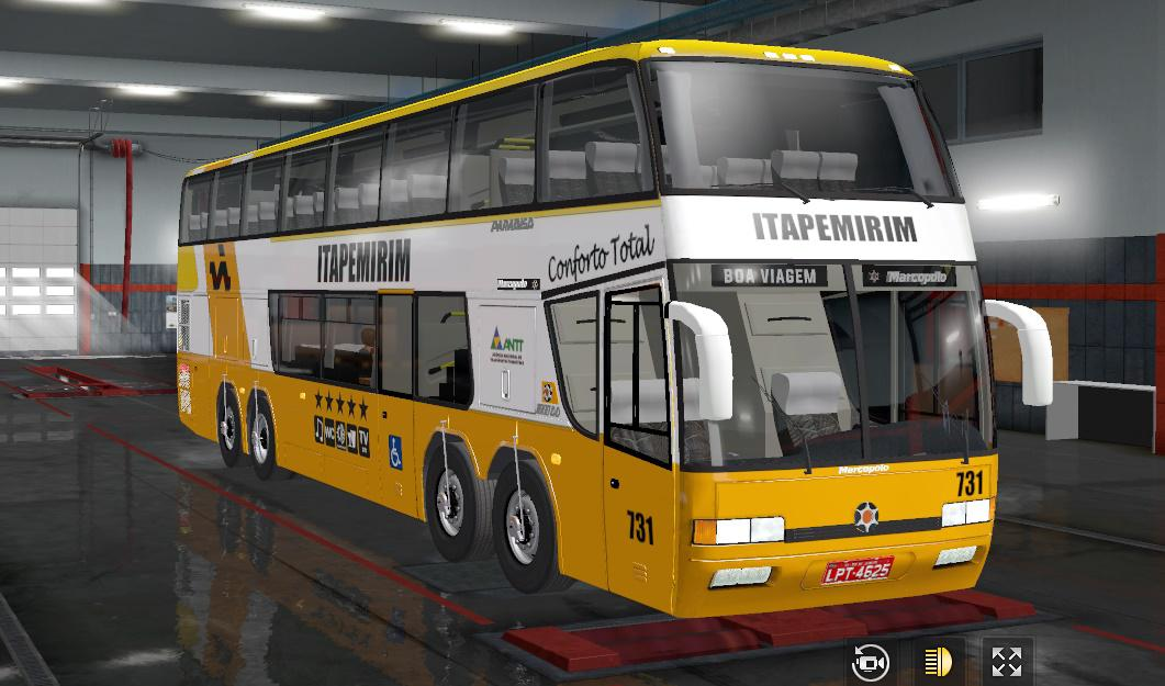 ETS2 - Marcopolo GV 1800 DD Bus V2.0 (1.36.x)
