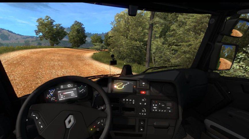 ETS2 - Renault T Dark Interior (1.36.x)