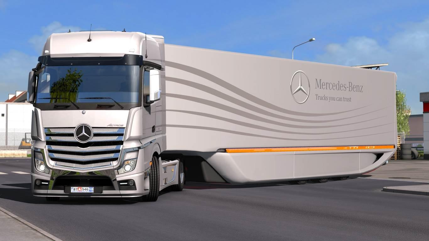 ETS2 - Mercedes-Benz AeroDynamic Trailer Concept V1.1 (1.36.x)
