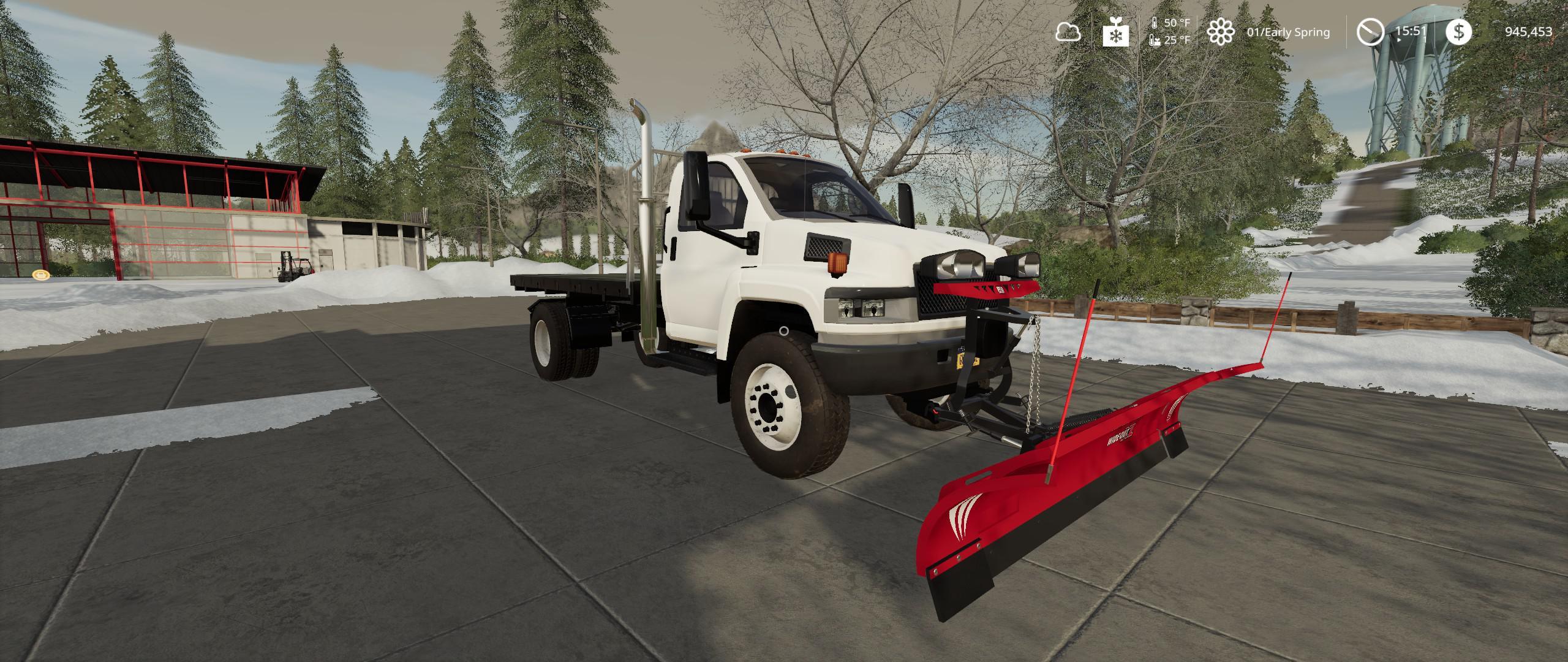 FS19 - GMC Topkick Flatbed Plow Truck v2.0
