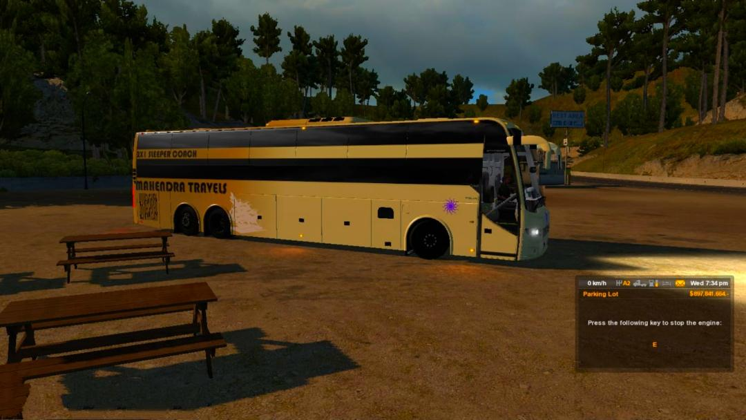 ETS2 - Indian Sleeper Coach Bus Volvo VII V2.0 (1.36.x)