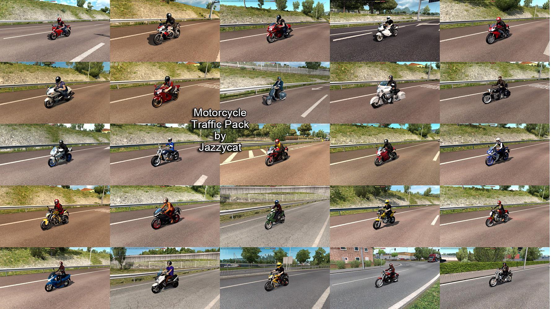 ETS2 - Motorcycle Traffic Pack V3.6 (1.35.X)