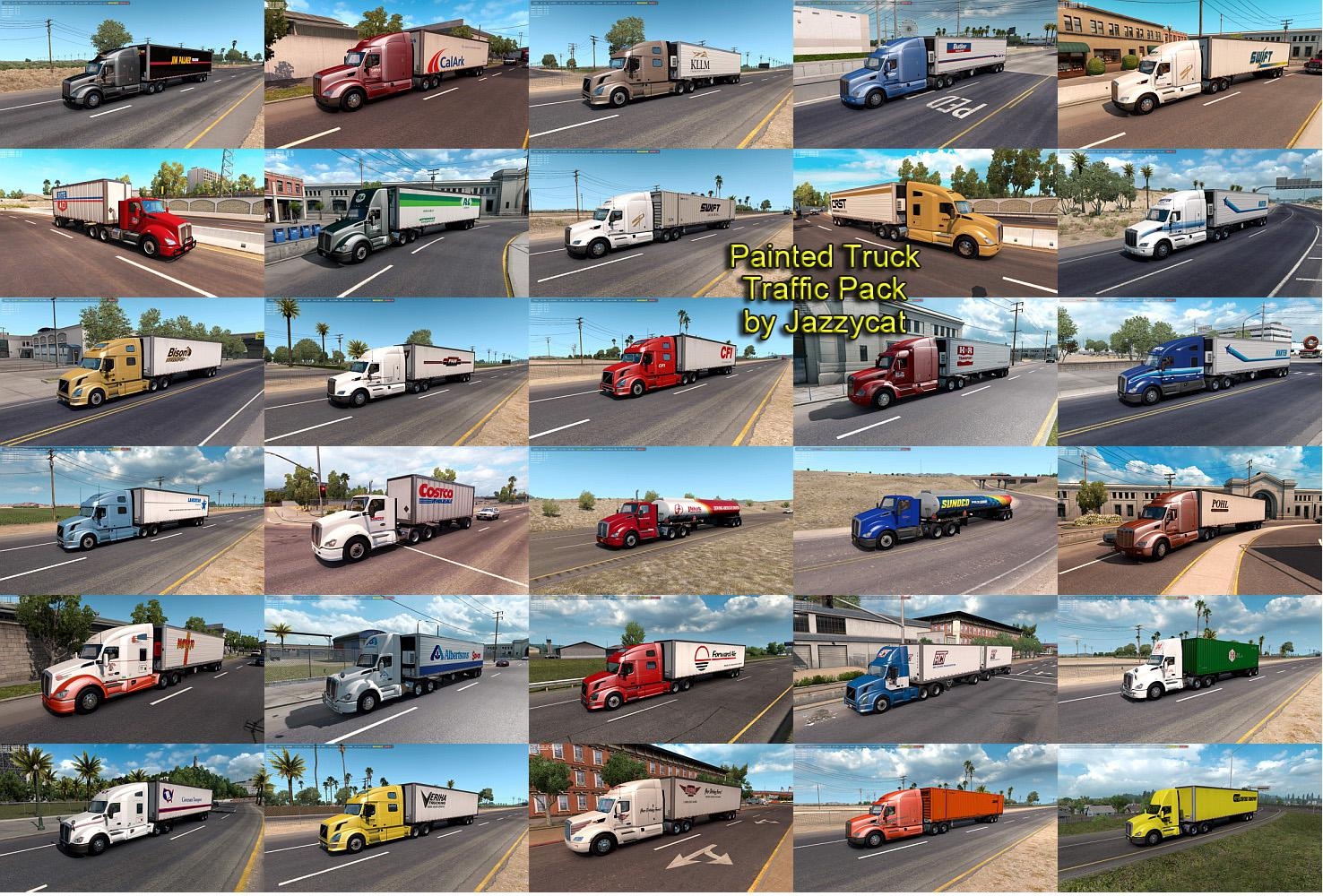 ATS - Painted Truck Traffic Pack V2.3 (1.35.X)