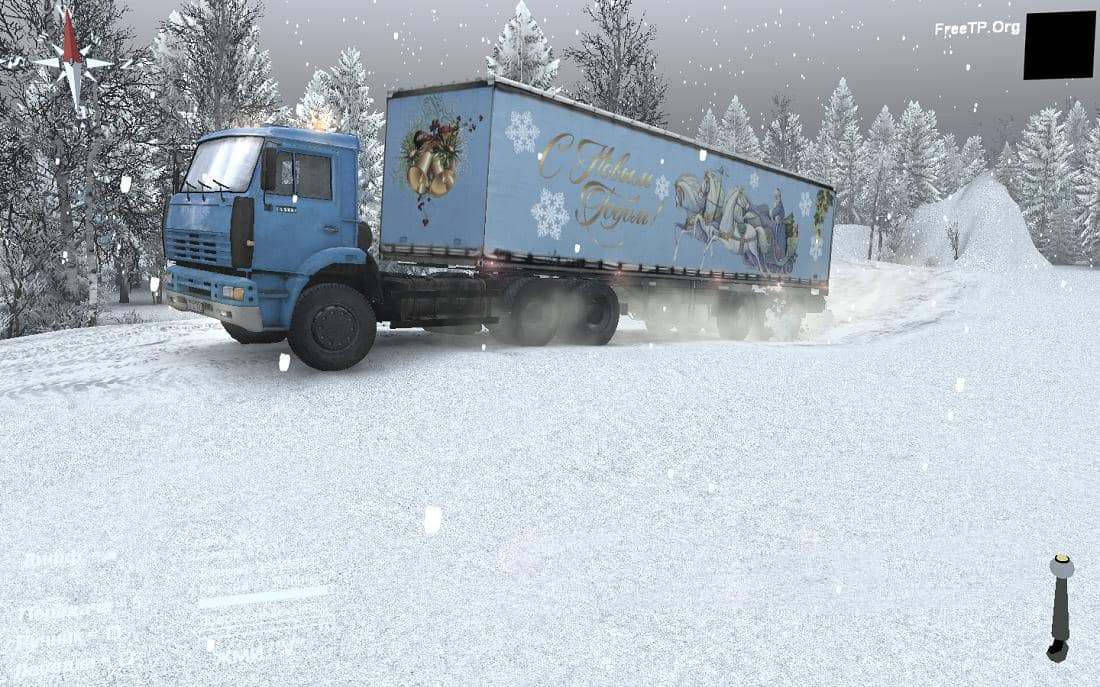 Spintires - Christmas Texture for The Default Semi-Trailer V1.0