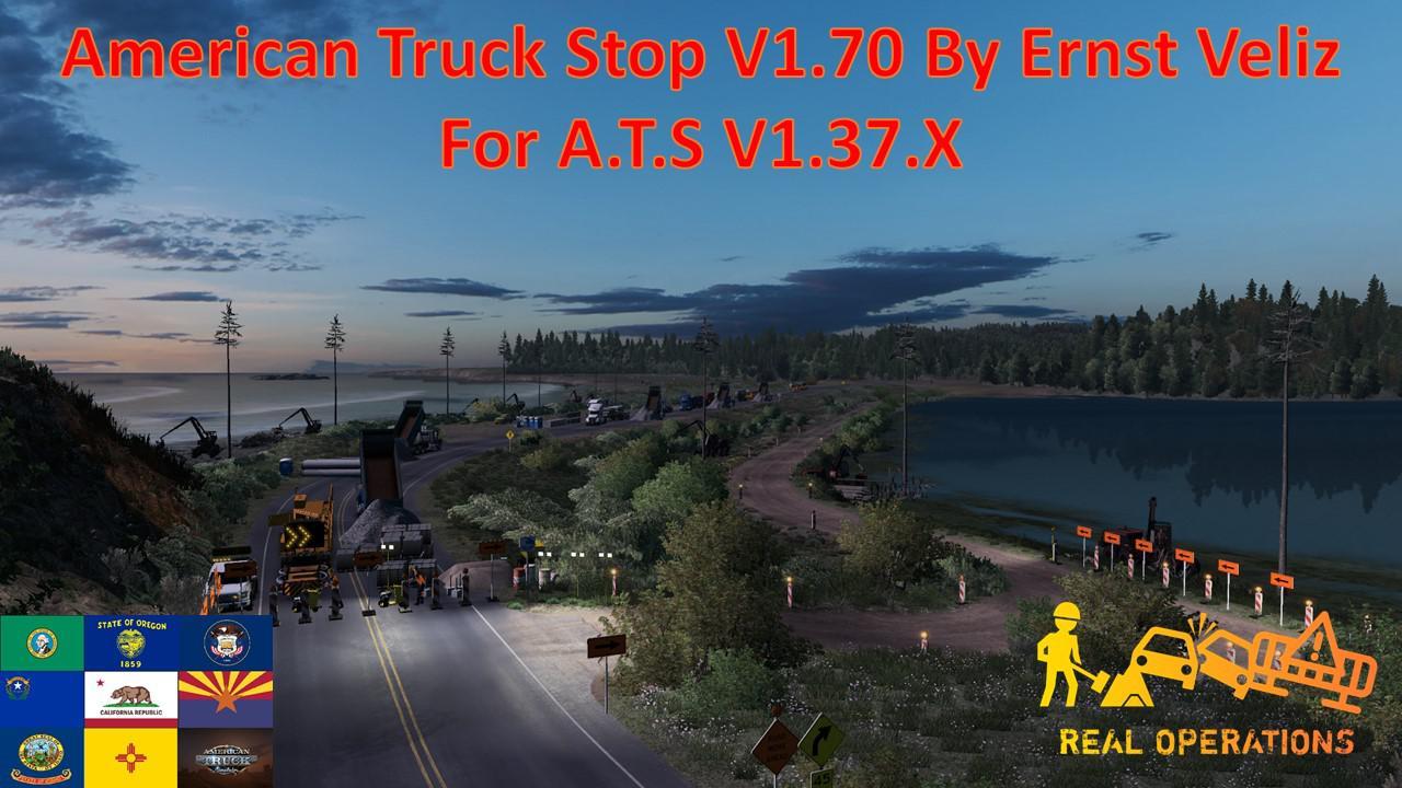 ATS - American Truck Stop V1.70 (1.37.x)