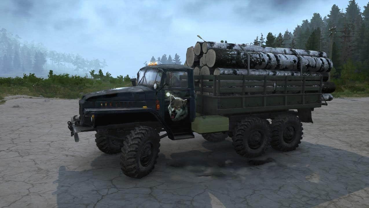 Spintires:Mudrunner - Texture Ural-375 Night Hunter V30.06.20