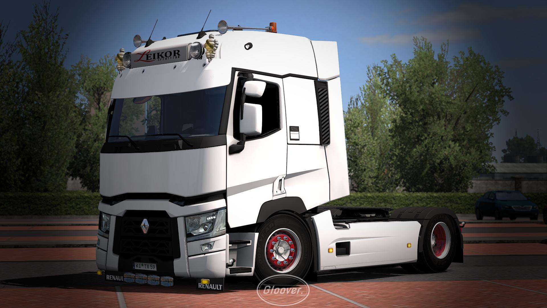 ETS2 - Light Improvements & Lowered Chassis Renault T V1.3 (1.35.X)
