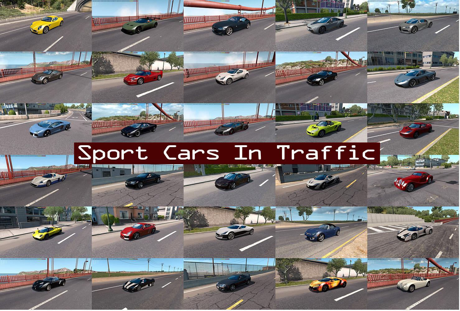 ATS - Sport Cars Traffic Pack V5.0 (1.36.x)