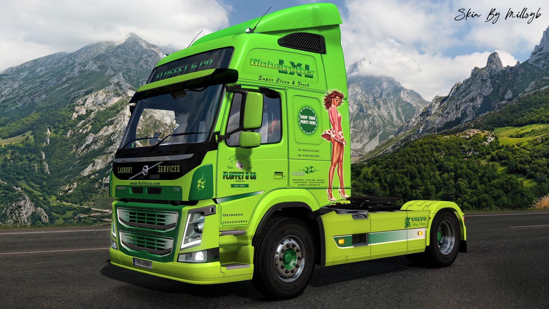 ETS2 - Volvo FM Fluffet & Co Skin V1.0 (1.36.x)