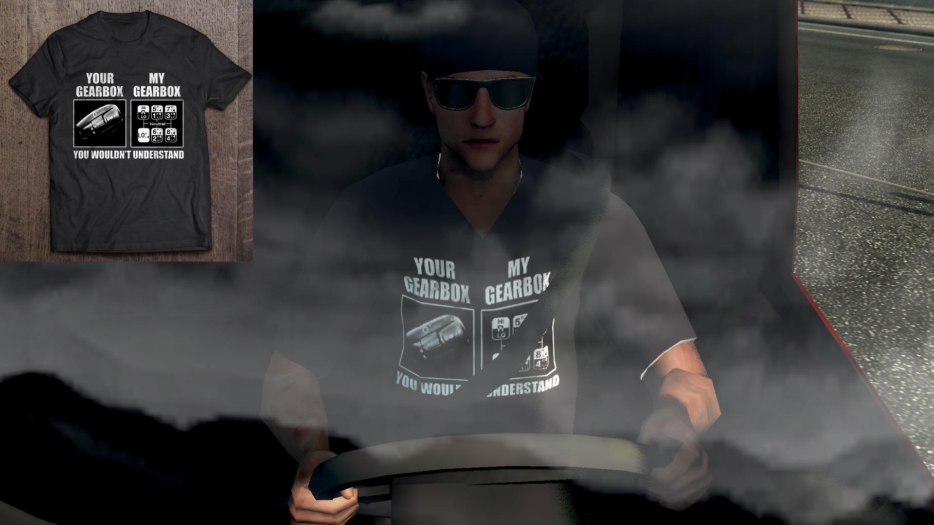 ETS2 - Truck Driver Skin – Funny T-Shirt v1.0 (1.35.X)