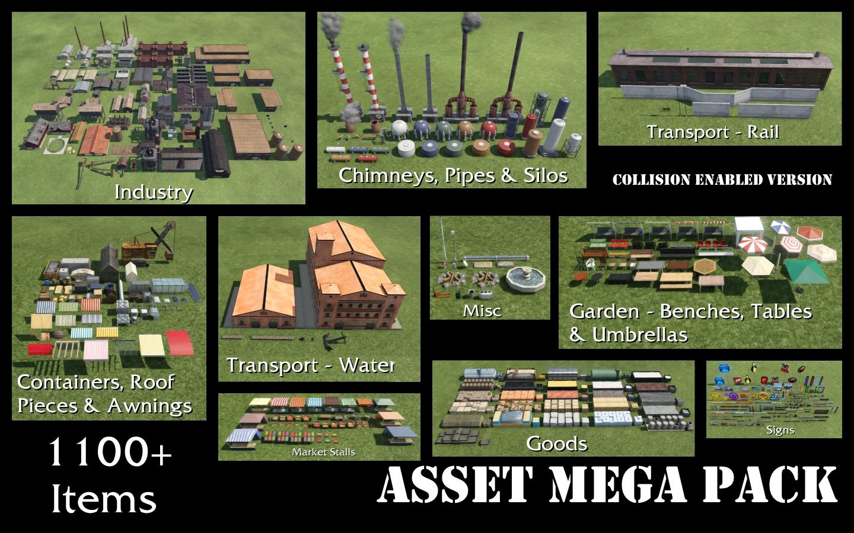 Transport Fever 2 - Asset Mega Pack – Collision Enabled