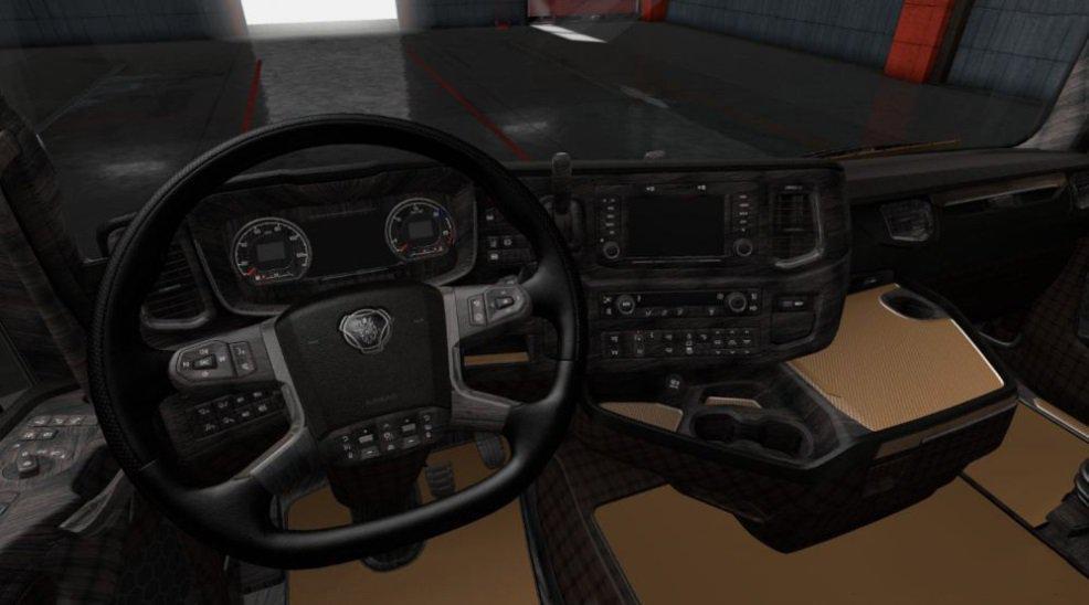 ETS2 - Scania S & R 2016 Luxury Dark Wood Interior (1.36.x)