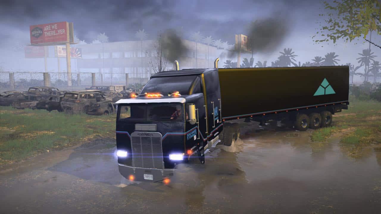 Spintires:Mudrunner - Freightliner FLA 9664 Off-Road Truck V1.1