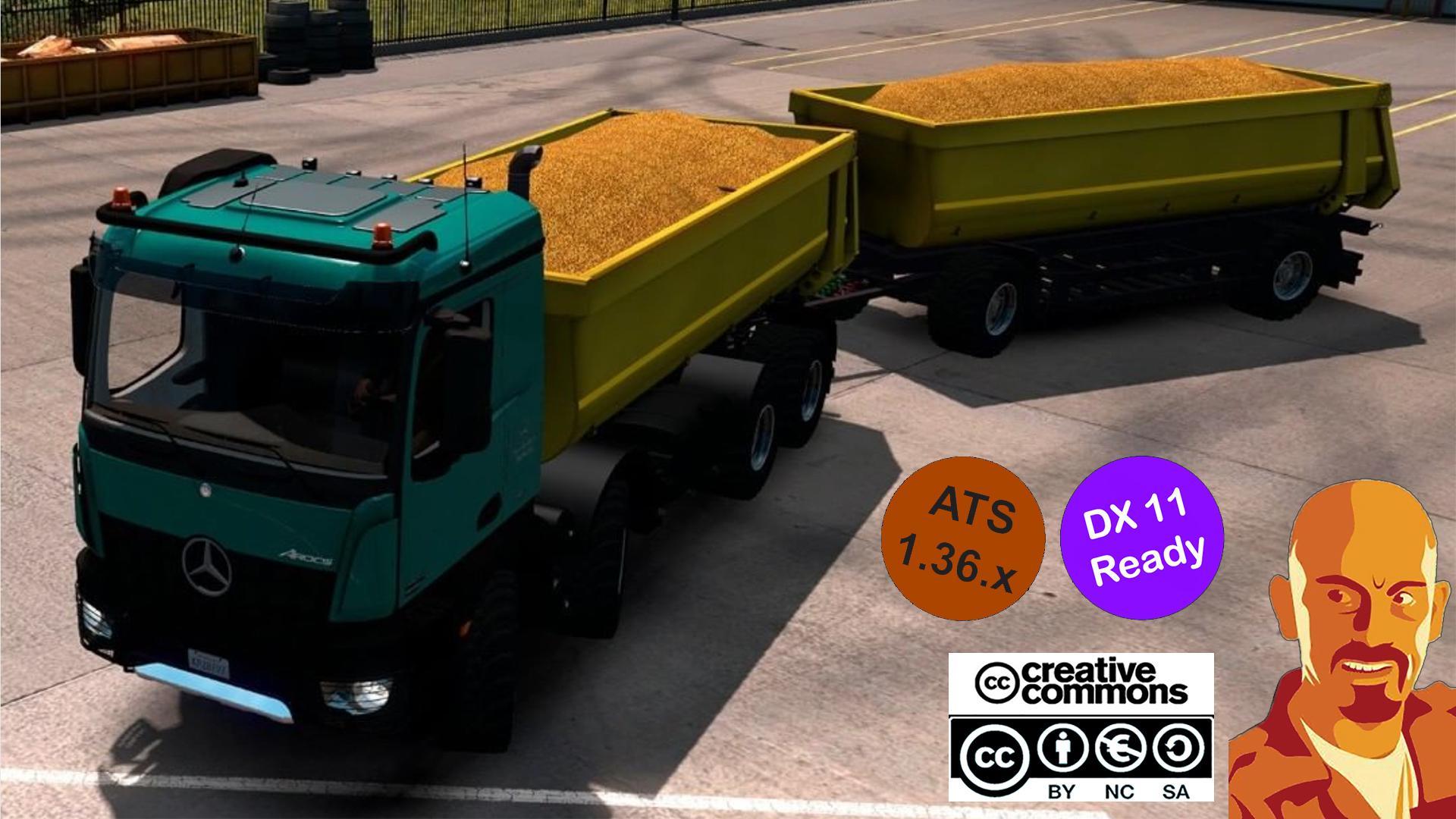 ATS - Kipper Agrar Trailer for Rear Hook Trucks (1.36.X)