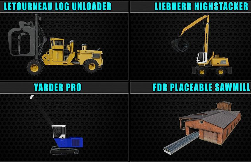 FS19 - FDR Logging Mods Pack V1.0