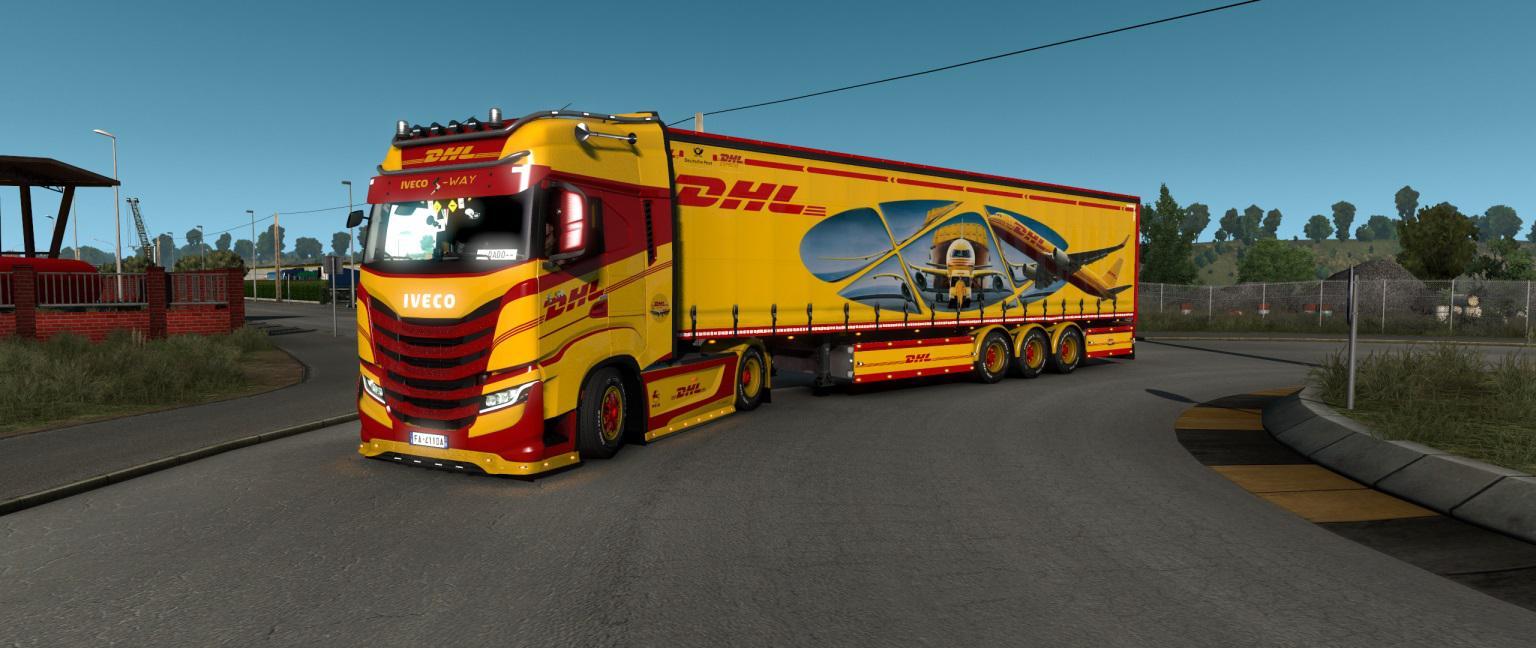 ETS2 - TNT DHL Trucks & Trailers Skin (1.38.x)