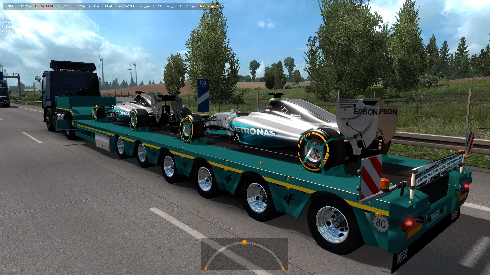 ETS2 - Mercedes AMG Petronas in Traffic Mod (1.36.x)