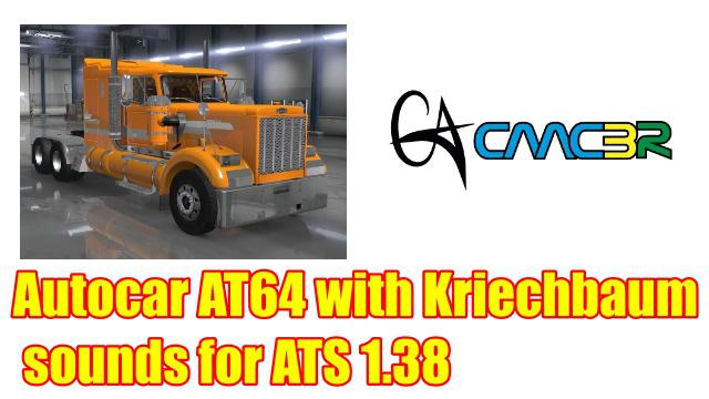 ATS - Autocar AT64 with Kriechbaum Sounds Mod (1.38.x)