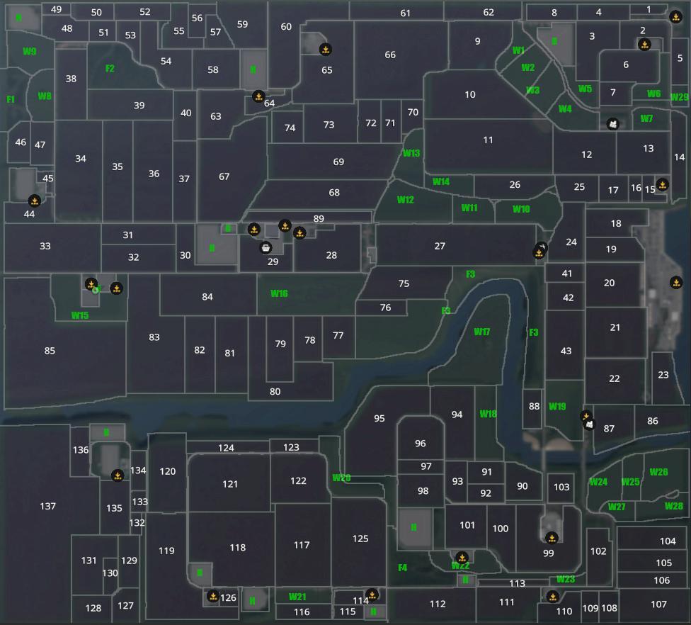 FS19 - Project Niedersachsen, Vierfach Map v2.5.1