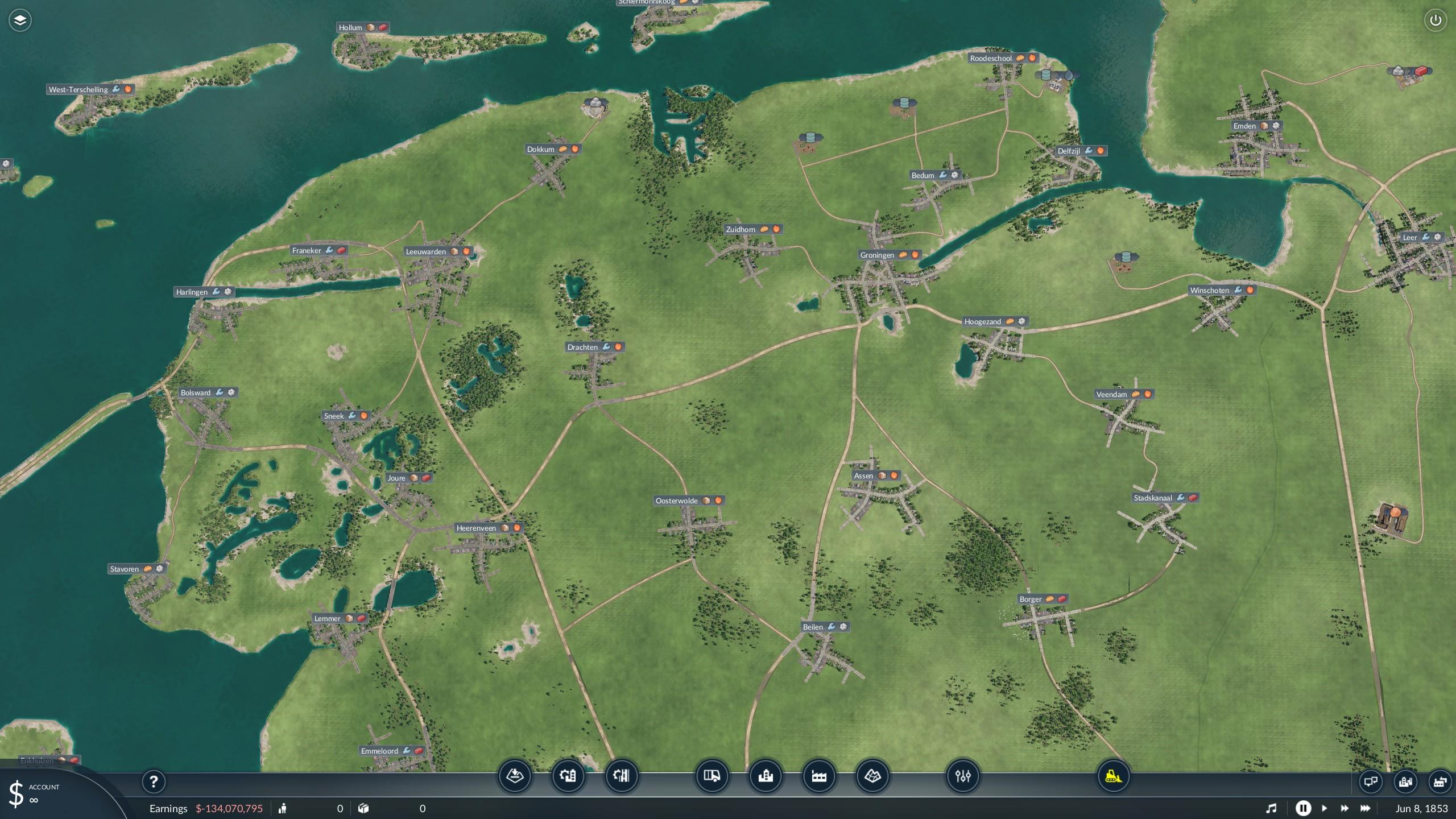 Transport Fever 2 - Netherlands Map V0.2
