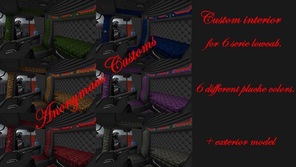 ETS2 - Scania 6 Serie Lowcab Custom interior V1.0 (1.36.x)