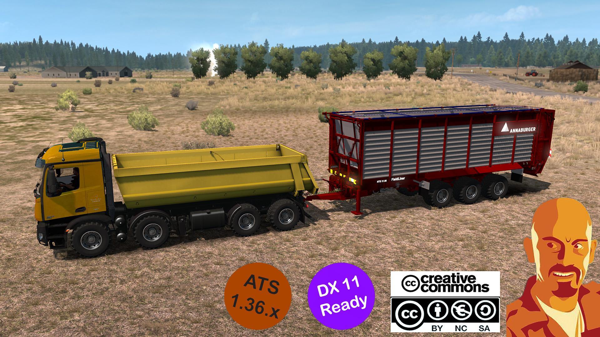 ATS - Mercedes-Benz Arocs Agrar Truck (1.36.x)