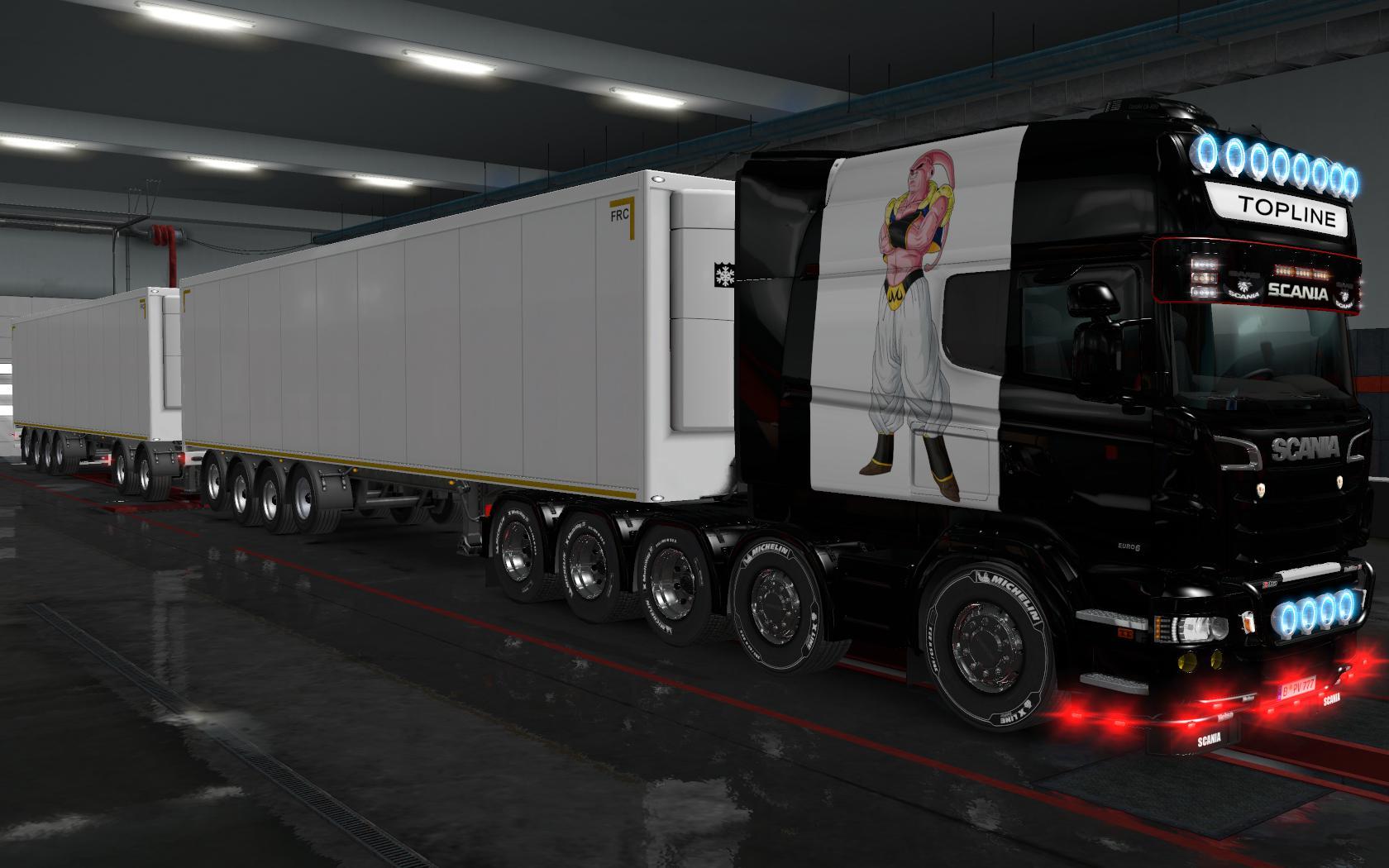 ETS2 - Scania R By Rjl Longline Majin Boo Skin (1.36.x)
