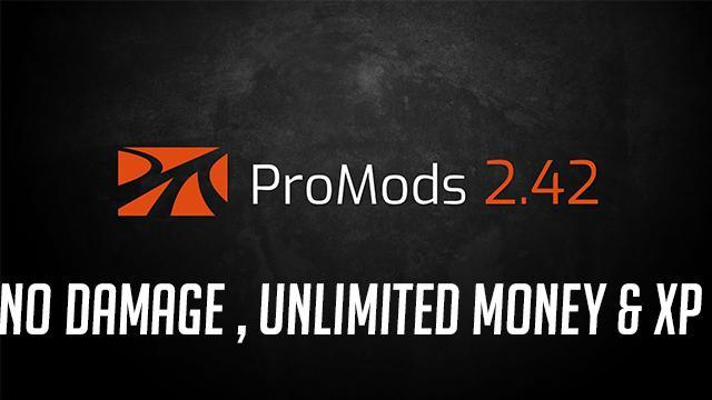 ETS2 - Promod V2.42 No Damage, Money & XP (1.36.x)