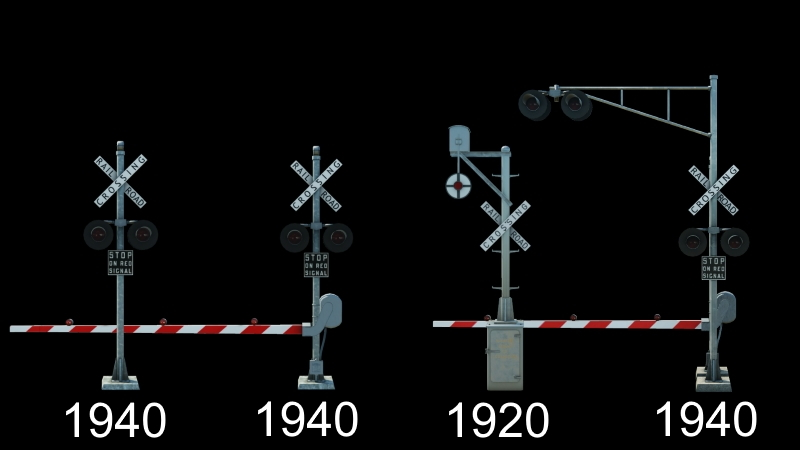 Transport Fever 2 - American Crossing Signals (Old-Style)