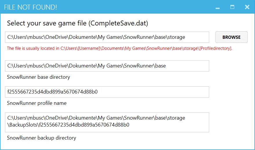 SnowRunner - Tool V1.0.3.1