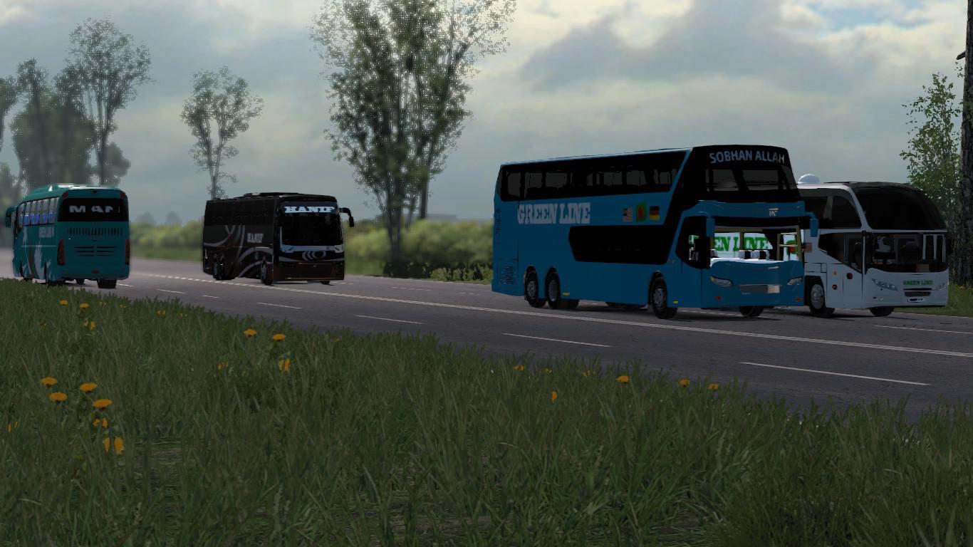 ETS2 - Green Line MAN 24.460 (Including Traffic) 1.31
