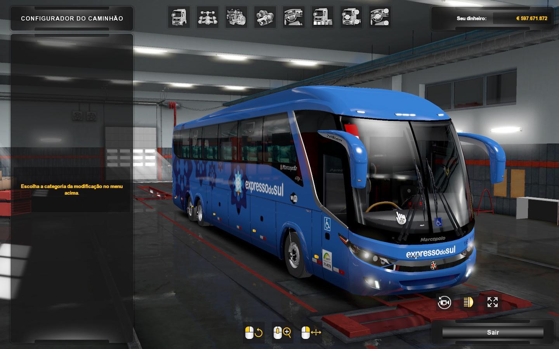 ETS2 - Marcopolo G7 Volvo 6x2 Bus V2.0 (1.36.x)