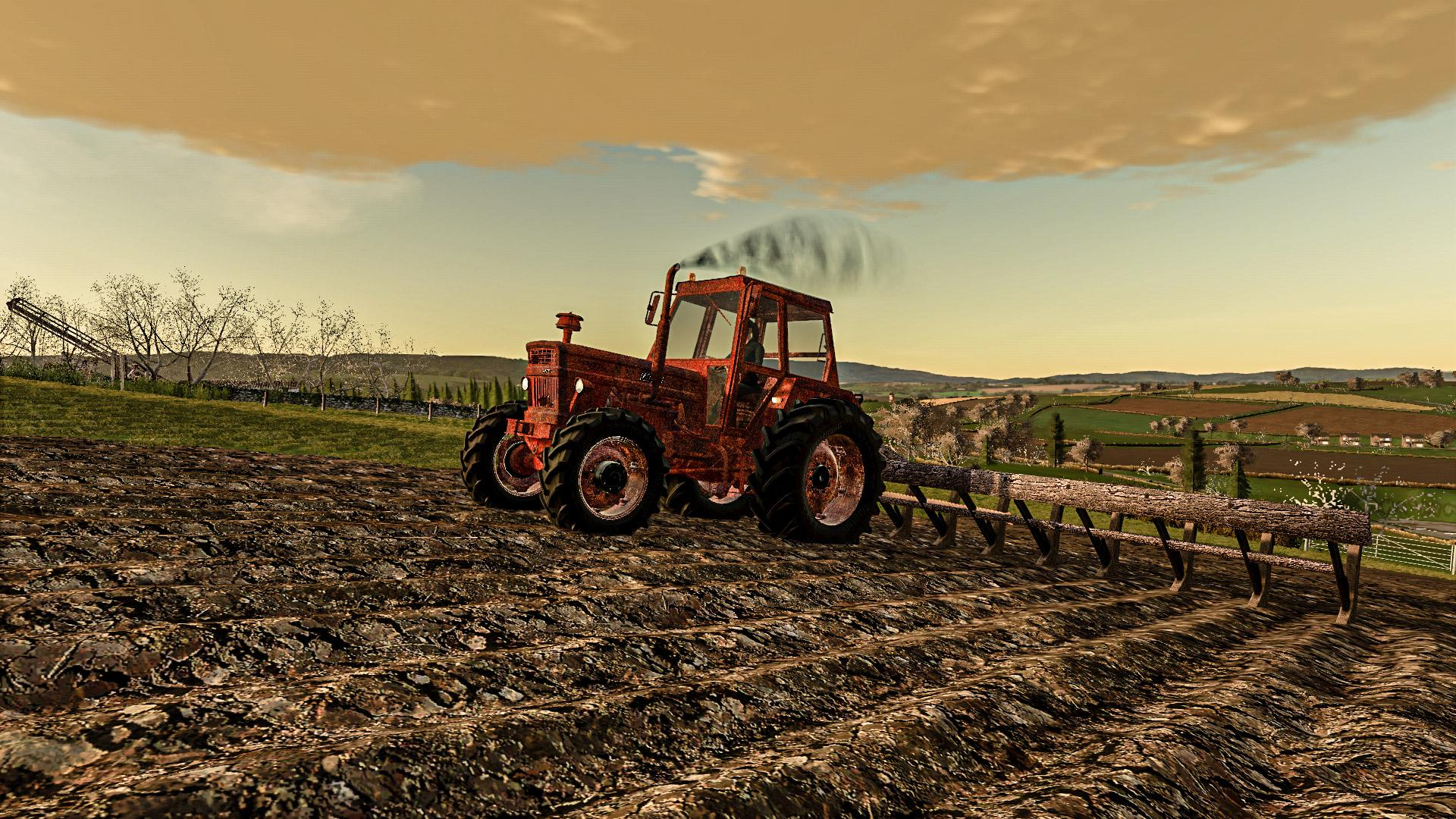 FS19 - Rusty Tractor With Old Plow V1.0
