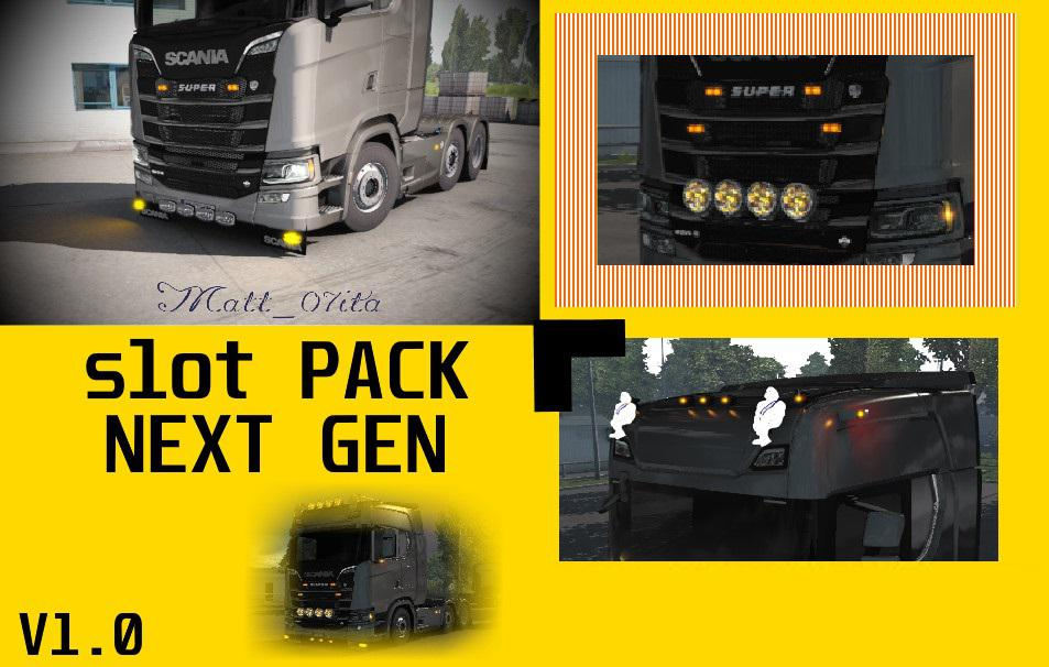 ETS2 - Scania Next Gen Slot Pack V1.0 (1.39.x)