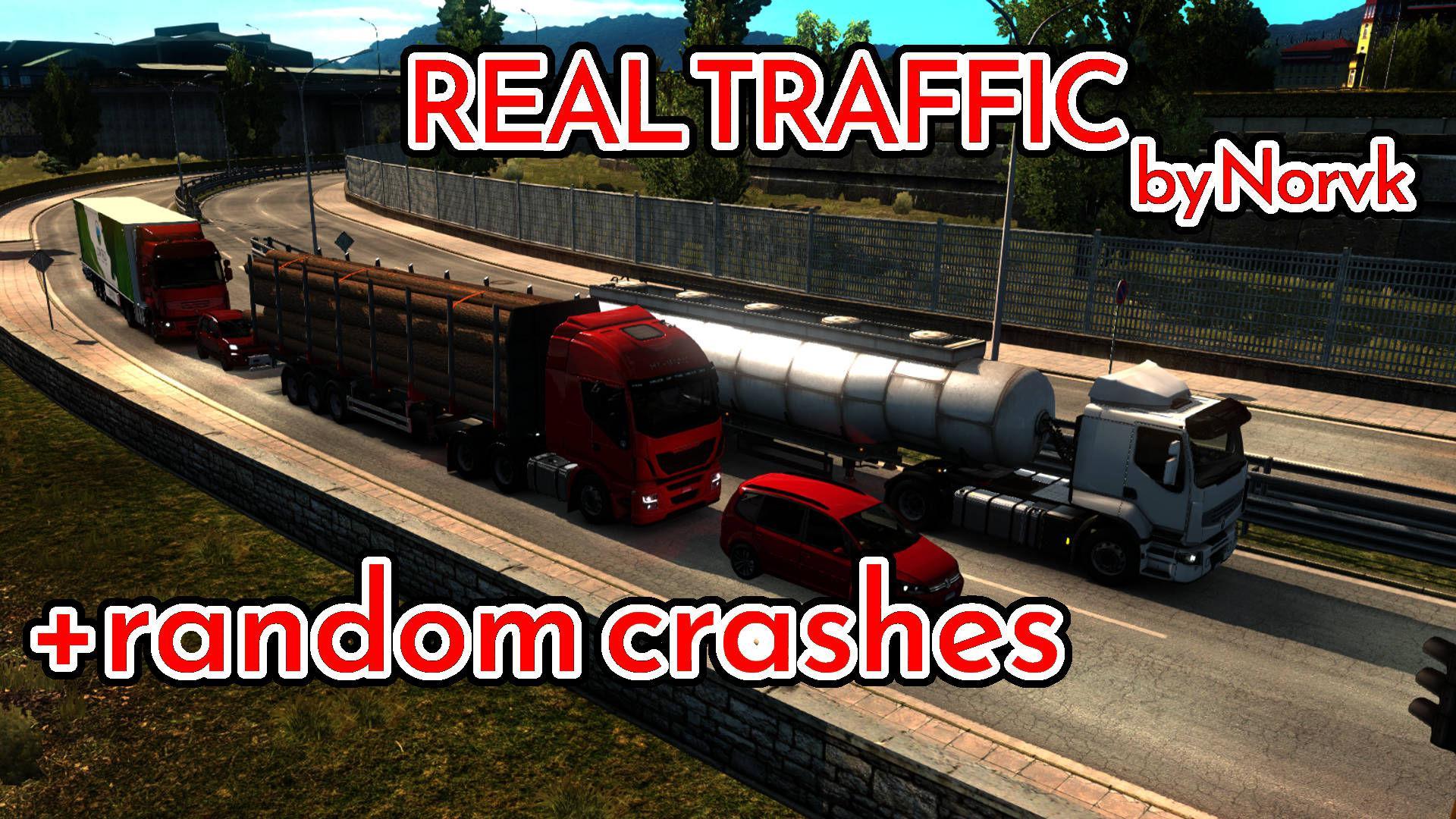 ETS2 - Realistic Traffic Density with Random Crashes Mod (1.36.x)