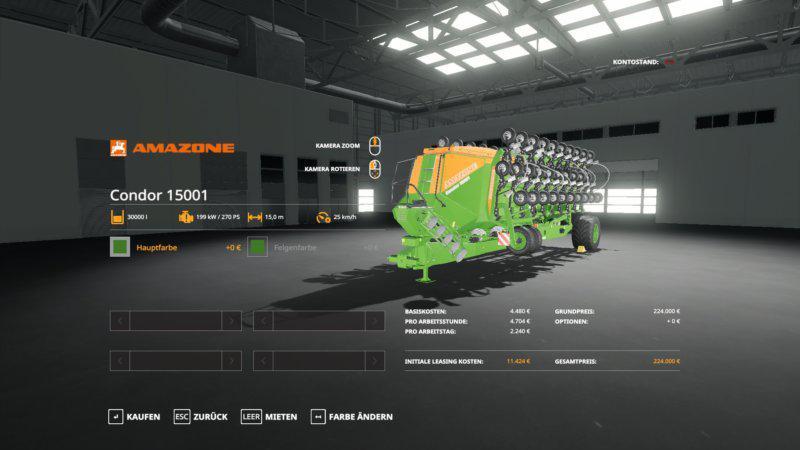 FS19 - Amazone Condor 15001 V1.0