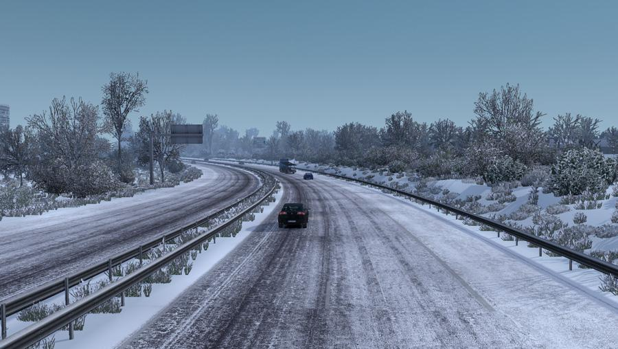 ETS2 - Frosty Winter Weather Mod V7.5 (1.38.x)