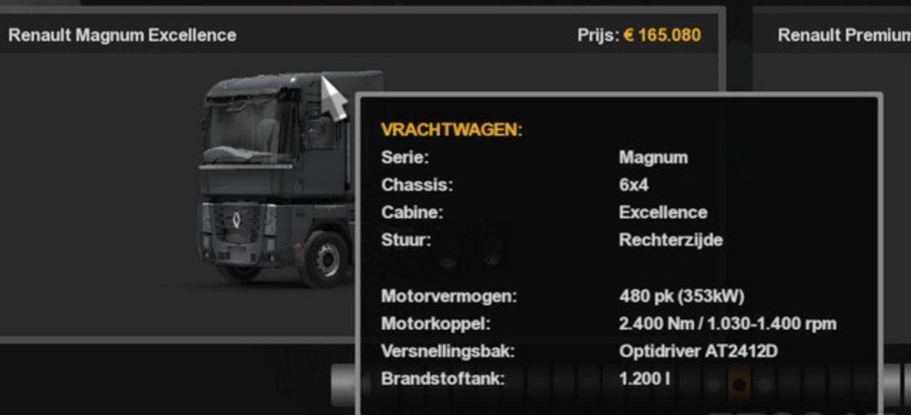 ETS2 - Renault Double Fuel Capacity (1.36.x)