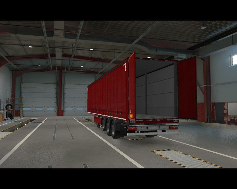 ETS2 - Openable Side Curtain and Back Door (MP-TruckersMP) V1 (1.37.x)