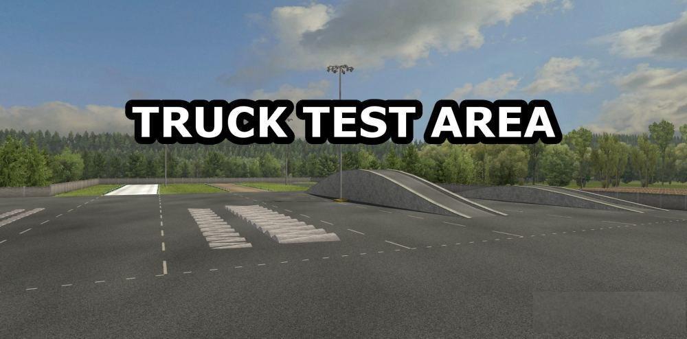ETS2 - Truck Test Area Mod V1.0 (1.35.x)