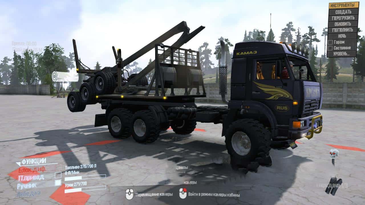 Spintires:Mudrunner - Kamaz-Nord-52114 Truck V1