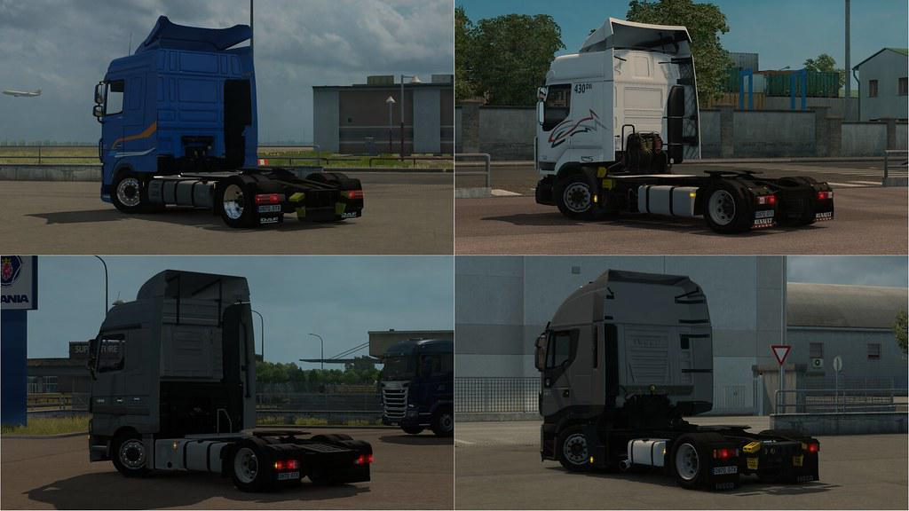 ETS2 - Low Deck Chassis Addons for Schumis Trucks V2.9 (1.35.X)