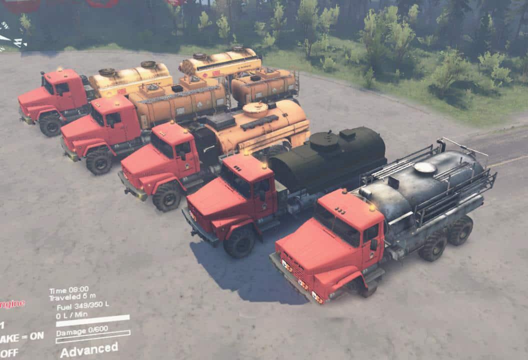 """Spintires - KrAZ-260 """"Naftovik"""" Truck V1.0"""