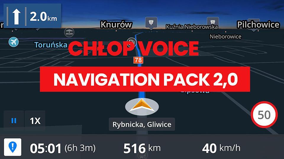 ETS2 - Chlop Voice Navigation Pack V2 (1.37.x)