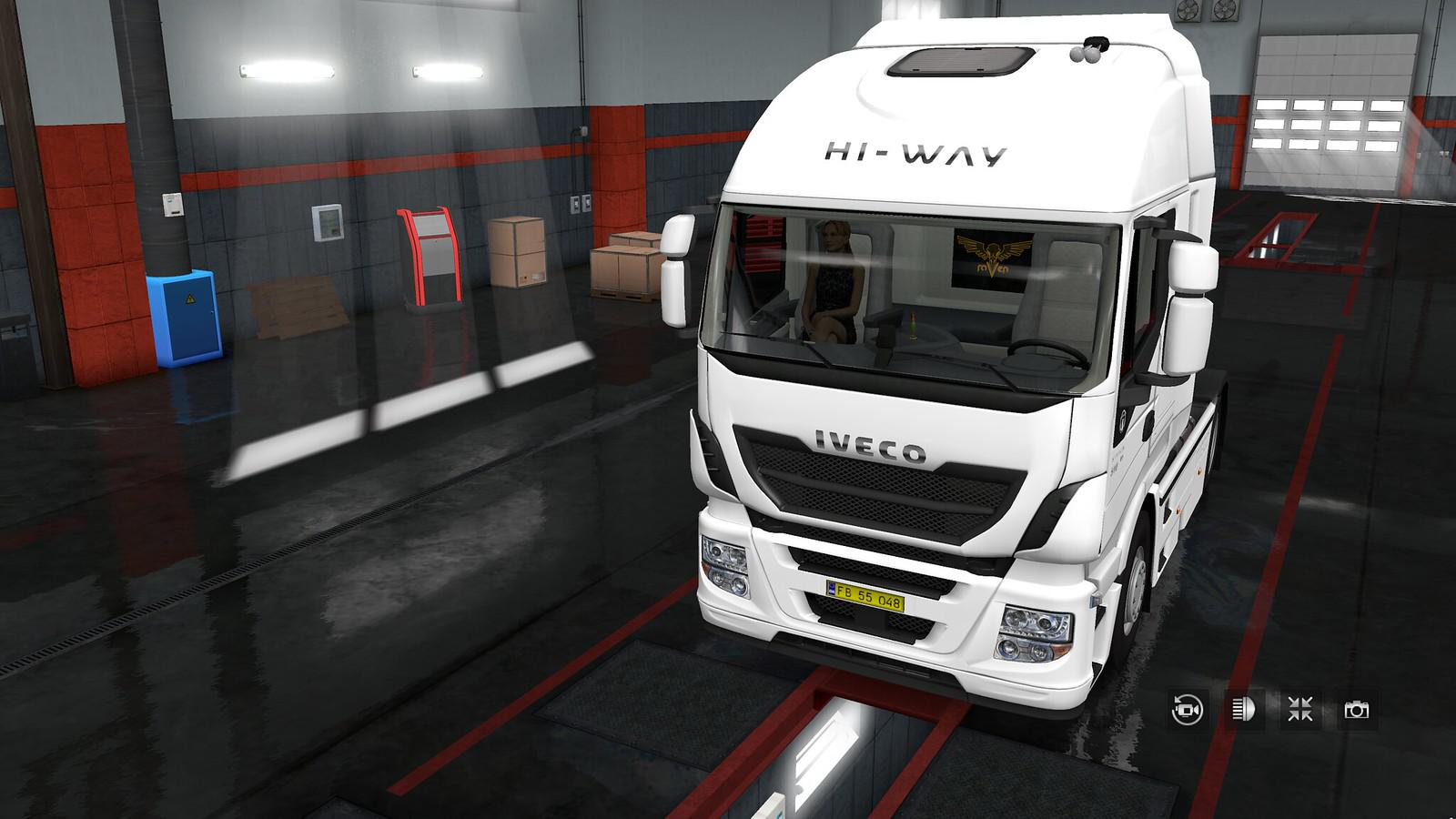 ETS2 - Exterior View Reworked for Iveco Hi-Way V1.0 (1.35.x)