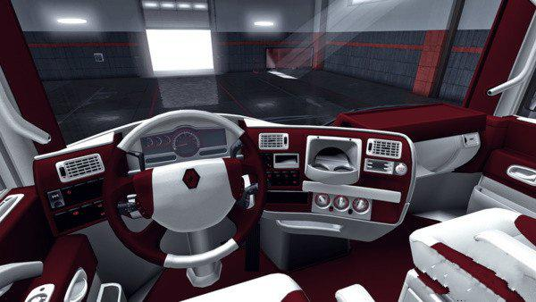 ETS2 - Renault Magnum Red-White Interior (1.35.X)
